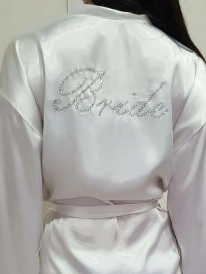 Patalya bayan saten sabahlık bride ( gelin )
